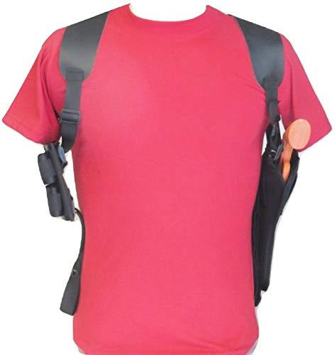 Federal Shoulder Holster for Ruger GP1006 BarrelSpeed-Loader PouchesLeather Pads