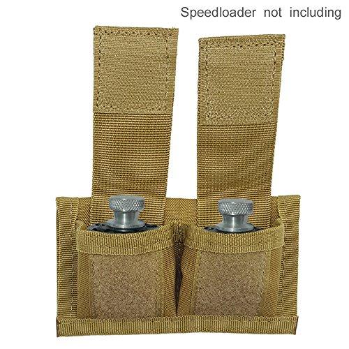 SkyCity Cordura Double Speedloader Belt Pouch Fit 22 Mag thru 44 MagTan