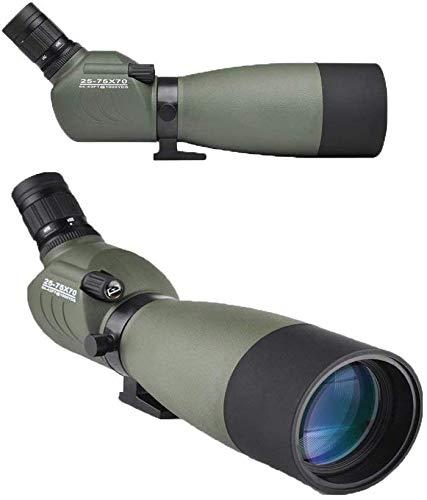 Telescope Hd Sightseeing Landscape 25-75X70 Large Eyepiece Sight Ipx6 Waterproof Bird Watching Monocular