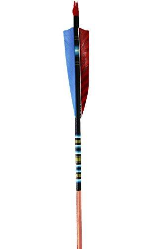 Rose City Archery Port Orford Cedar Fancy Arrows Black Crown with Mahogany Stain Shaft 3 Shield Fletch 516 Diameter 40-45 Spine WT One Dozen