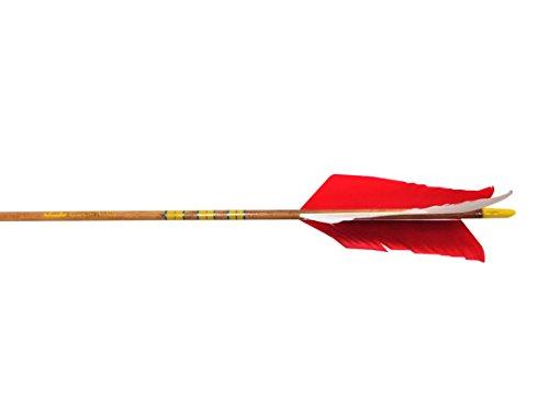 Rose City Archery Port Orford Cedar Hunter Flu-Flu Arrows 6-Pack