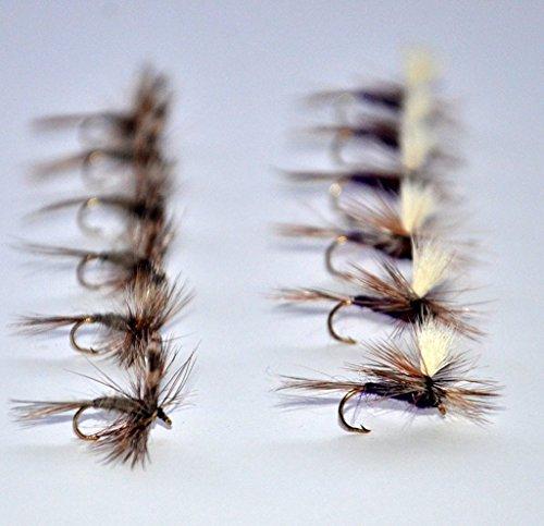 Adams Dry Fly Fishing Flies and Purple Haze Parachute Assortment Trout Fishing Flies  Fly Box