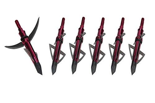 Best-selling Red Mechanical Broadheads 4 Razor Sharp Blade 125 Grain Archery Screw-in Broadheads Hunting Arrow Head-6pcs