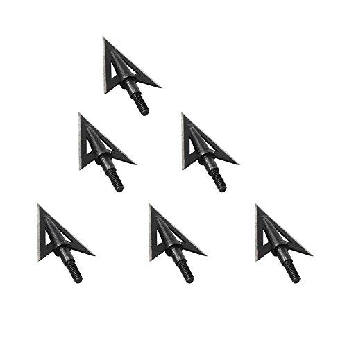I-sport Archery Hunting 2 Fixed Blade Broadheads 100-grain Arrowheads 6 Pack