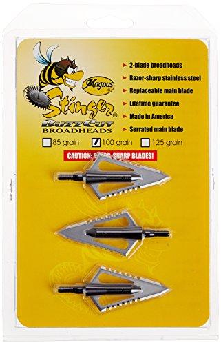 Magnus SBC100-2 Stinger Buzzcut 2 Blade Broadhead Arrow 100-GrainPack of 3