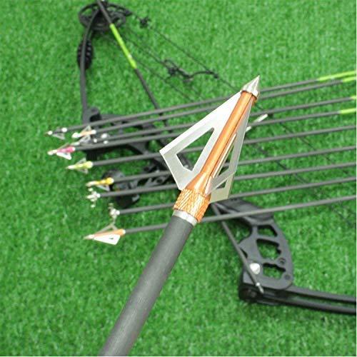 Maifield Bowfishing Head Carbon-Fiber Arrow Shafts 2 Mechanical Barbs 25 Holding Area Archery Broadhead Fits 516 Fiberglass Arrow Shaft 36 PK