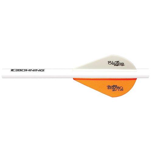 Bohning Neon Orange Blazer Quik Fletch 6pk
