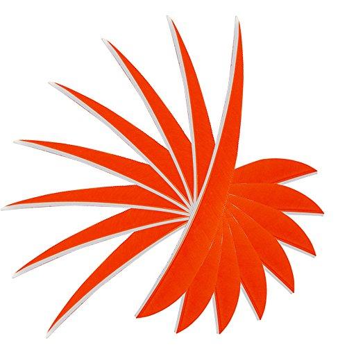 Toparchery 20pcs 5 Parabolic Shape Natural Turkey Feathers Arrows Fletching Left Wing orange