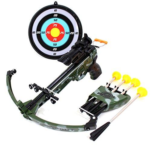 PowerTRC Military Toy Crossbow Set w Target