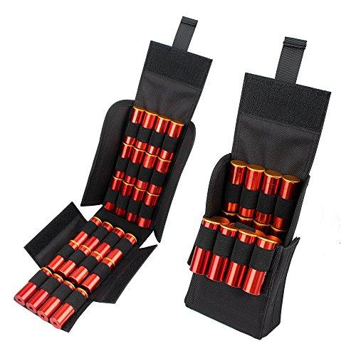 Kosibate HOT 25 Round Shotgun Shotshell Reload Holder Molle Pouch for 12 Gauge20G Black