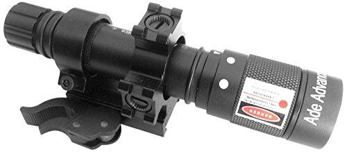 Ade Advanced Optics Class 3R Green Laser IlluminatorHunting Flashlight with Quick Release Mount Black