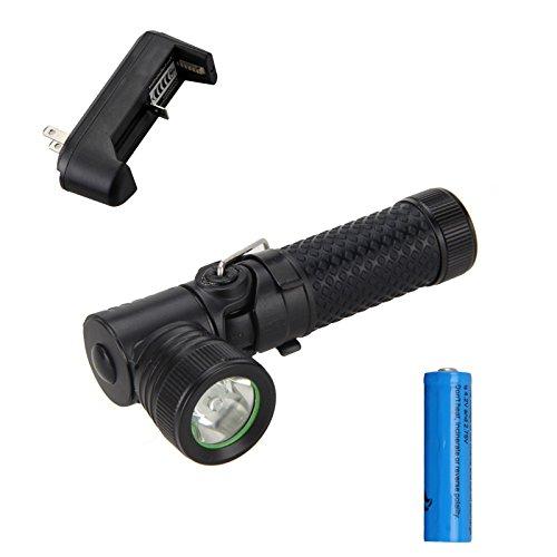 Cree Led Flashlight Mini 1000LM CREE Q5 LED 90 Degree Pivoting Flashlight Torch Light 3Mode14500CH surefire Flashlights
