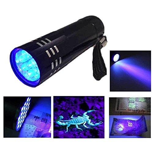 Cree Led Flashlight Mini Aluminum UV Ultra Violet 9 LED Flashlight Blacklight Torch Light Lamp Black Surefire Flashlights