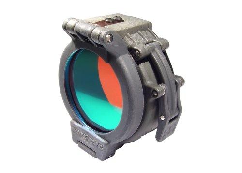 Flip Up Red Filter for SureFire Flashlights with 125 Diameter Bezels