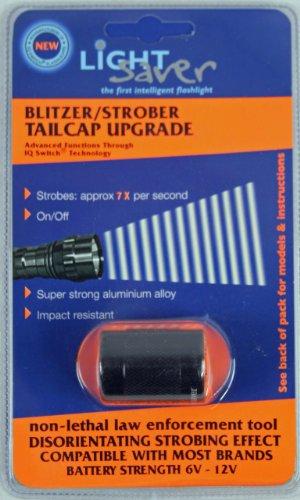 Light Saver Blitzer Strobe Tailcap for SureFire FlashlightsTorches Designed for 6P C2 G2 G2Z Z2 Models Black