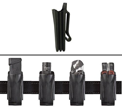 Ultimate Arms Gear SUREFIRE Flashlight Light Laser Accordion Flexible Belt Clip Pouch Holder Stealth Black