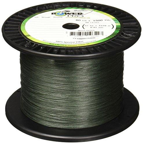 Power Pro Spectra Fiber Braided Fishing Line Moss Green 150YD30LB