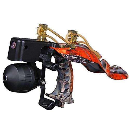 Smarty Outdoor Pro Fishing Reel Hunting Slingshot Catapult Kit Harpoon Bowsling Fishing Tool Orange