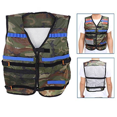 Kids Elite Tactical VestAdjustable Tactical Vest Kit for EVA Nerf Gun N-strike Elite SeriesCamouflage