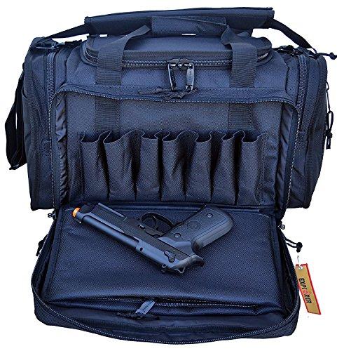 Explorer Large Padded Deluxe Tactical Range Bag Rangemaster Gear Tactical Assault Sling Pack Range Shoulder Camera Bag Modular Black