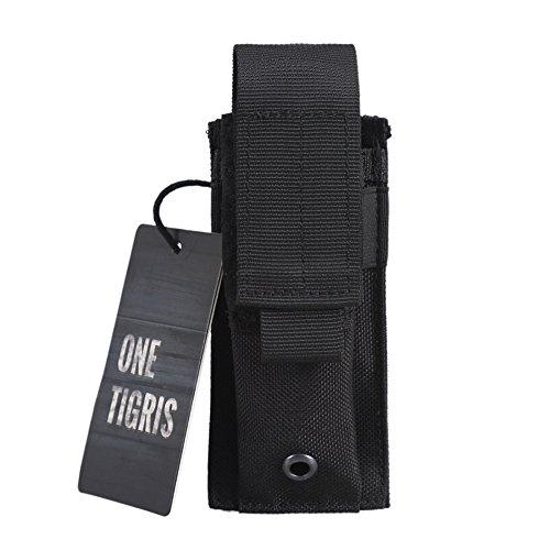 OneTigris Tactical Molle Single Pistol Mag Pouch EDC Organizer Pouch EMT Mini Scissor Tool Pouch Black