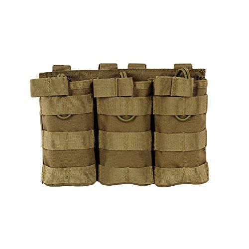 AegisTac Tactical Magazine Pouch Triple M4M16 MOLLE Open-Top Mag Pouch