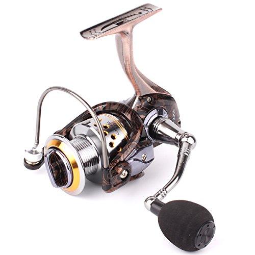 Geila Gapless Metal Body Spinning Fishing Reel with 131BB Ball Bearings for Saltwater Freshwater Fishing HA3000