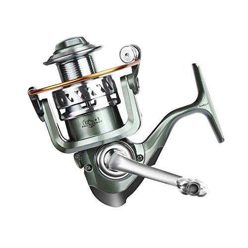 ROSE KULI Spinning Metal Spool Bait Casting Fishing Reel 12 Plus 1 Ball Bearings for Freshwater and Saltwater 30004000 Series
