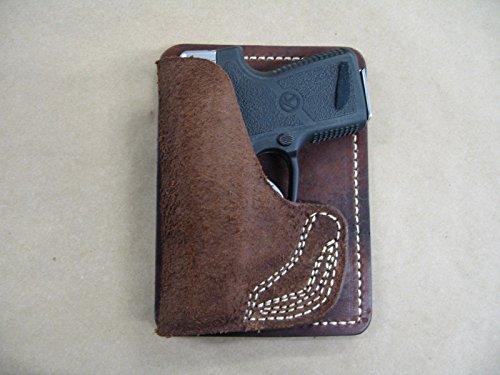 Glock 42 380 Inside the Pocket Leather Concealment Handgun WALLET Holster CCW RH BROWN