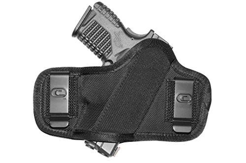 Crossfire Elite CLPONSA1F-4 Clip-On Full Frame Ambidextrous Semi-Auto Holster 4-Inch Right Hand Black