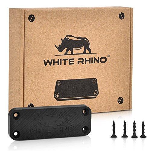 WHITE RHINO Gun Magnet Mount Rubber Coated Magnetic Gun Holder Truck Car Holster - Concealed for Handgun Rifle Pistol Revolver Magazine in Vehicle Wall Vault Bedside Desk with 35 lb Rating