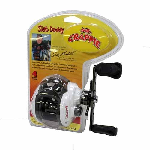 Lews Fishing MC1HSDC MrCrappie Slab Daddy Baitcast Reel 63 1 Gear Ratio 10 Lb 175 yd Line Capacity Clam Package