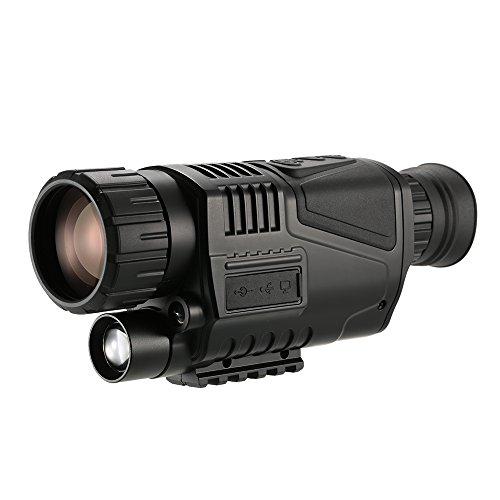 Lixada 5x40 Multi-functional Digital Night Vision Monocular Telescope with Camera Video Recorder Camcorder Function Black