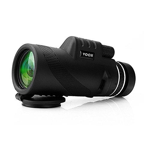 Monocular Telescope 10X42 Dual Focus Prism Film Optics Tripod Capable Waterproof Low Night Vision Monocular Scope for Birdwatching Hunting Camping Hiking  Golf Concert Surveillance