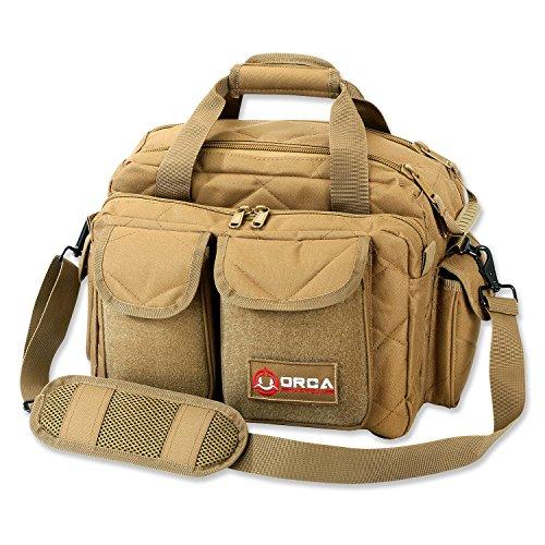 Orca Tactical Gun Pistol and Ammo Shooting Range Duffle Bag Coyote Brown