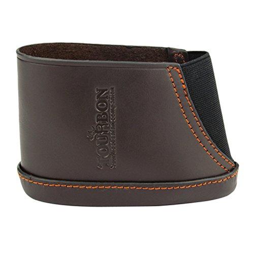 Tourbon Hunting Vintage Genuine Leather Shotgun Stock Adjustable Recoil Pad Large Size