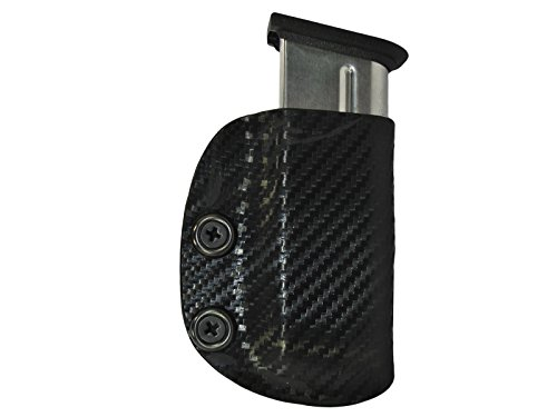 Carbon Fiber Kydex IWB Mag Pouch Magazine Carrier Holster Tactical Black Glock S&W Springfield XDS S&W Shield right