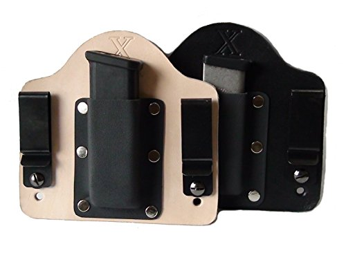 FoxX Holsters Leather and Kydex IWB Magazine Carrier Glock 9 40 Hybrid Holster