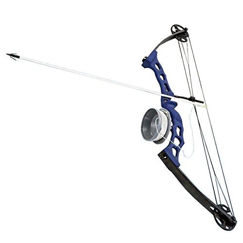 Scuba Choice Bowfishing Adult Compound Bow Archery Complete Set Reel  Arrow Blue