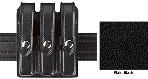 Safariland Model 777 Slim Triple Mag Pouch wFlap Plain Black Glock 20 21