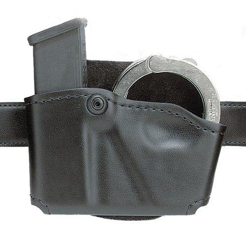 Safariland 573 Glock 20 21 Open Top Paddle Magazine Pouch with Handcuff Case STX Plain Black Left Hand