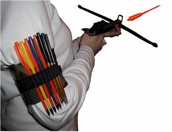Pistol Crossbow Arrow Quiver - Arrowstrap Black