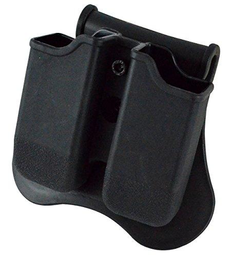 Dual Magazine 360 Swivel Paddle Pouch Fits 9mm 38 40 Caliber Glock 17 19 22 23 25 26 27 31 32 33 34 35 37 38 39