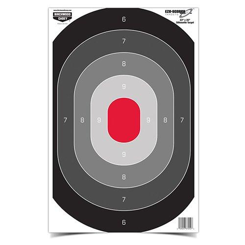 Birchwood Casey Eze-Scorer 23 x 35 Oval Silhouette - 5 Paper Targets Folded