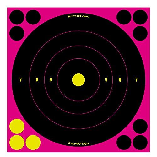 Birchwood Casey Shoot-N-C 8 Pink Bulls-Eye Target - 30 Targets