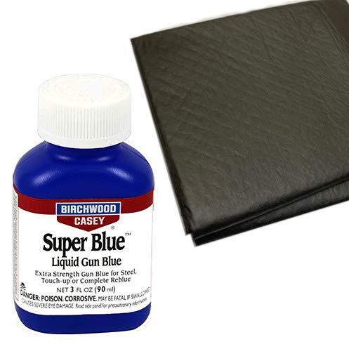Westlake Market Birchwood Casey Super Blue Liquid Gun Blue Plus 2 Disposable Absorbent Pads for Gun Restoration Projects
