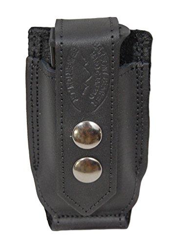 New Barsony Black Leather Single Magazine Pouch for Bryco 32 380 Sigma 380
