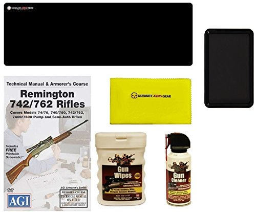 AGI DVD Manual Armorers Course Remington 740  760 Series Rifles  Ultimate Arms Gear Gunsmith Cleaning Gun Mat  Cleaner Protector Spray  Care and Reel Cloth  Gun Wipes Pop-Up  Magnetic Tray