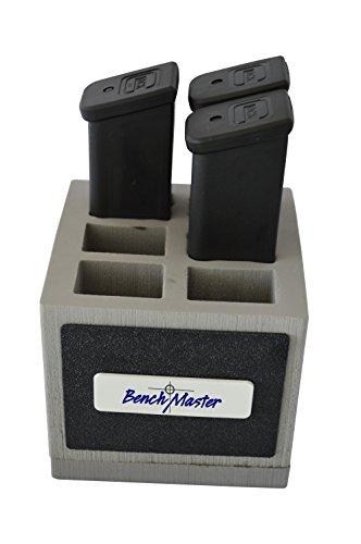 Benchmaster - Weapon Rack - Double Stack 45 Magazine Rack - 6 unit - Gun Safe Storage Accessories - Pistol Mag Storage