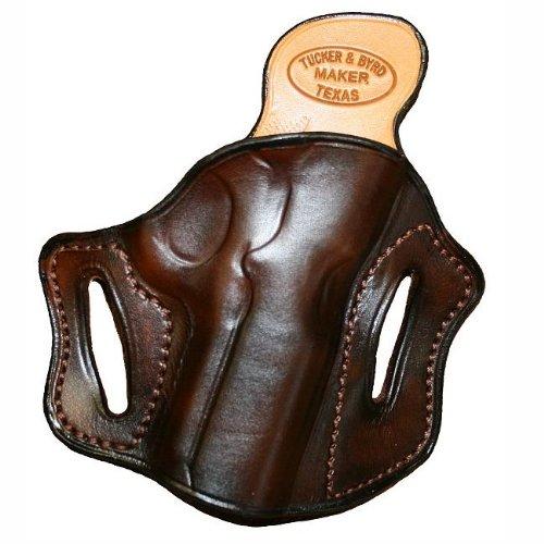 Right Hand - Tucker Byrd Leather Full Pancake Belt Holster - Bond Arms Snake Slayer - Dark Brown